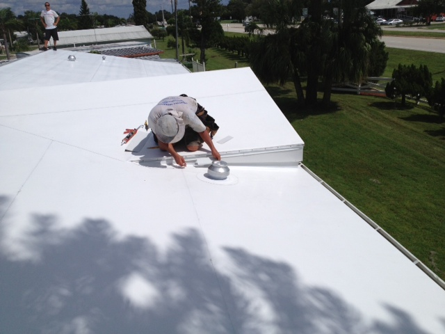 After photo of a mobile home roof replacement project