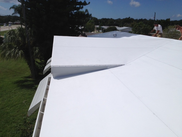 Before photo of a mobile home roof replacement project